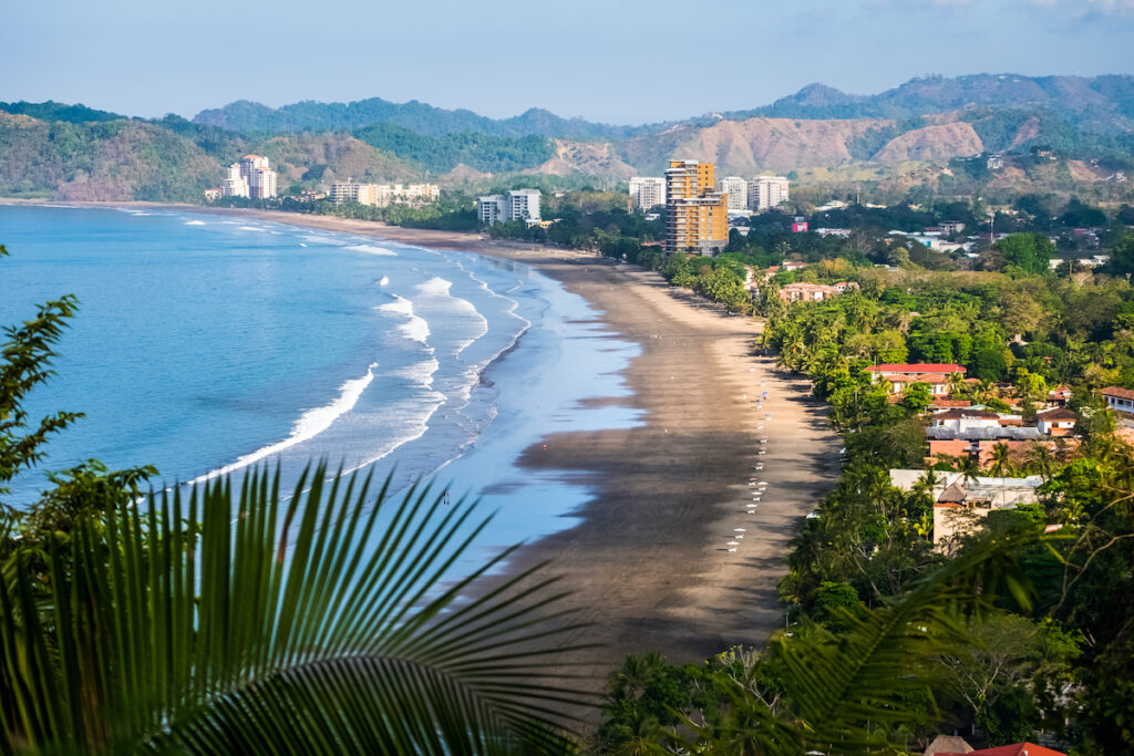 The beautiful town of Jaco in Costa Rica.
