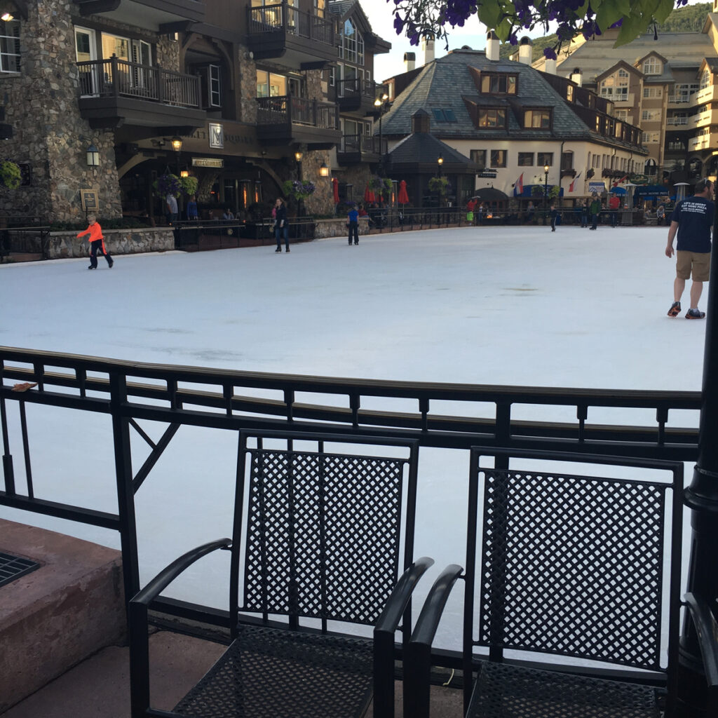 The Beaver Creek Ice Rink in the village.
