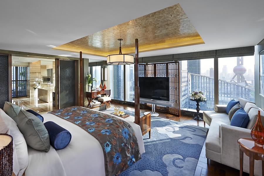 The bedroom of the Mandarin Oriental'sPresidential Suite
