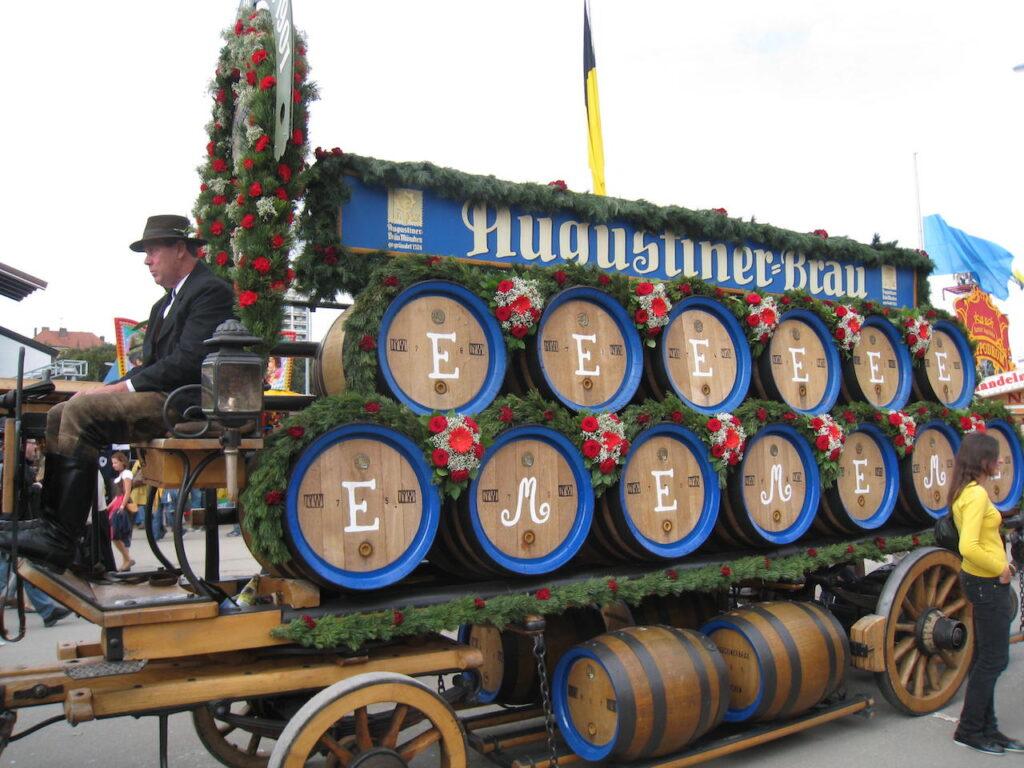 The beer cart at Oktoberfest.
