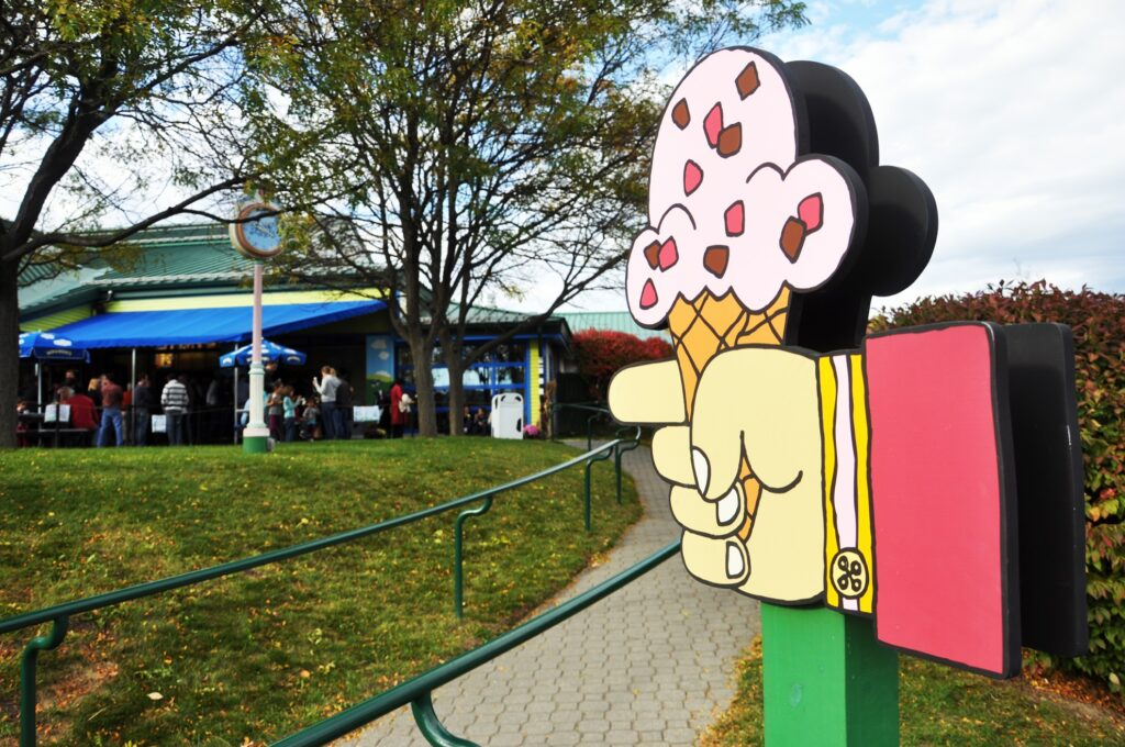 The Ben and Jerry's factory in Vermont.