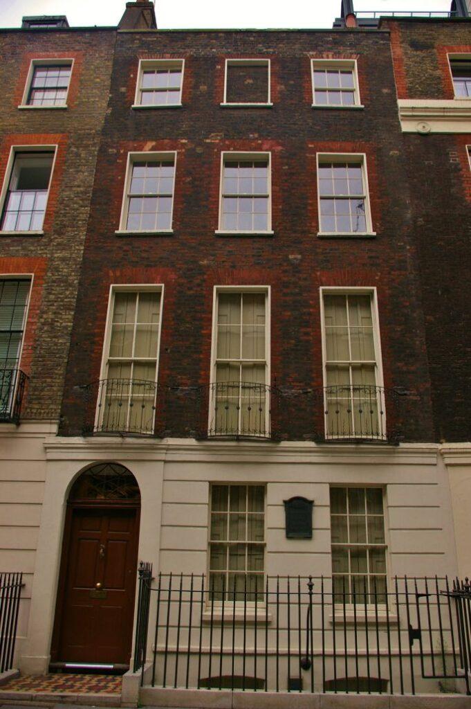 The Benjamin Franklin house near Trafalgar Square.