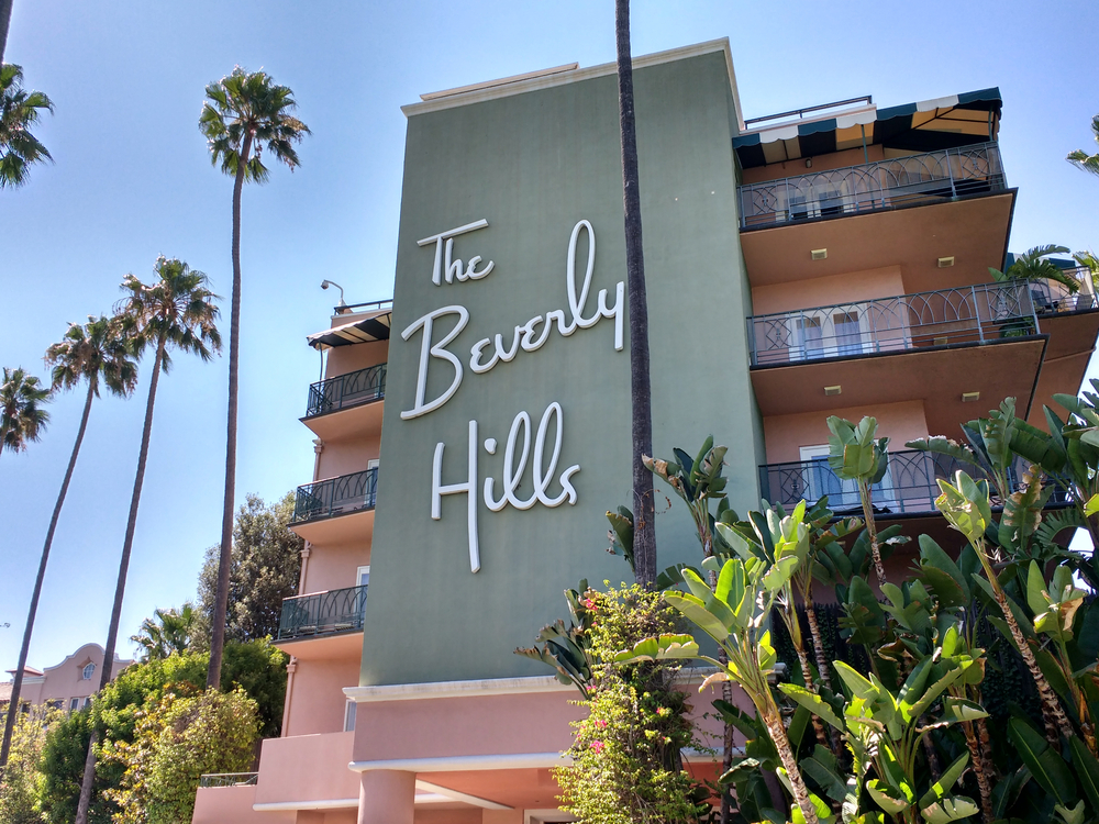 The Beverly Hills Hotel facade