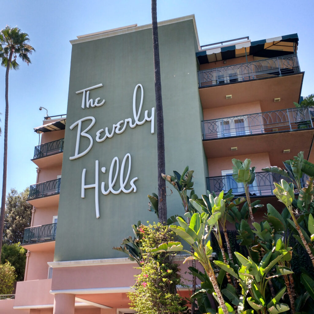 The Beverly Hills Hotel in Los Angeles, California.