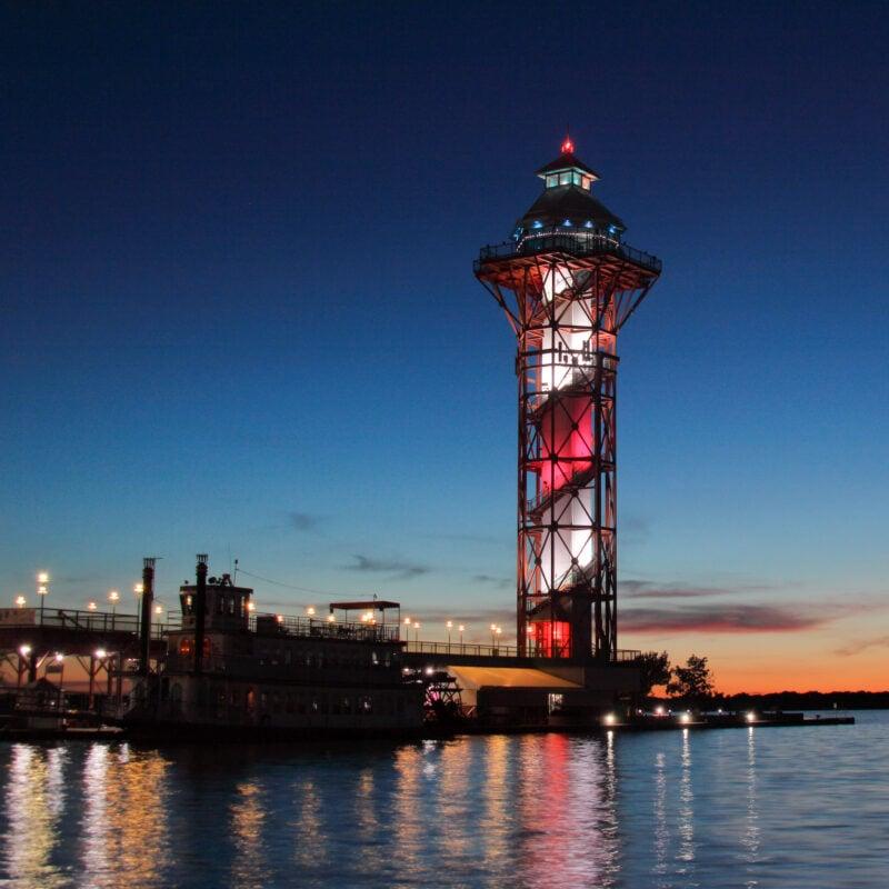 The Bicentennial Tower in Erie, Pennsylvania.
