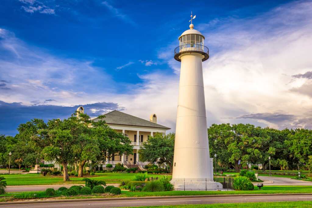 The Biloxi Lighthouse in Biloxi, Mississippi.