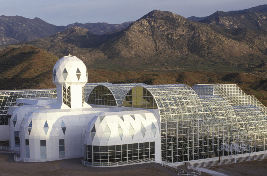 The Biosphere 2 facility in Oracle, Arizona.