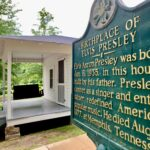The birthplace of Elvis Presley in Tupelo, Mississippi.