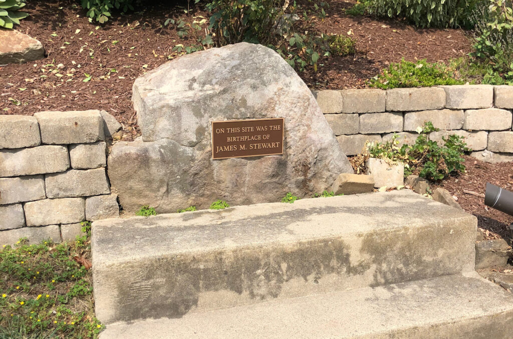 The birthplace of Jimmy Stewart in Indiana, Pennsylvania.