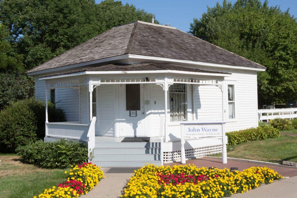 The Birthplace of John Wayne in Iowa.