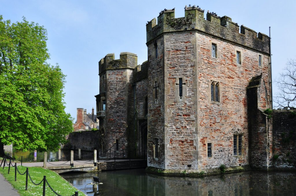 The Bishop's Palace in Wells, England.