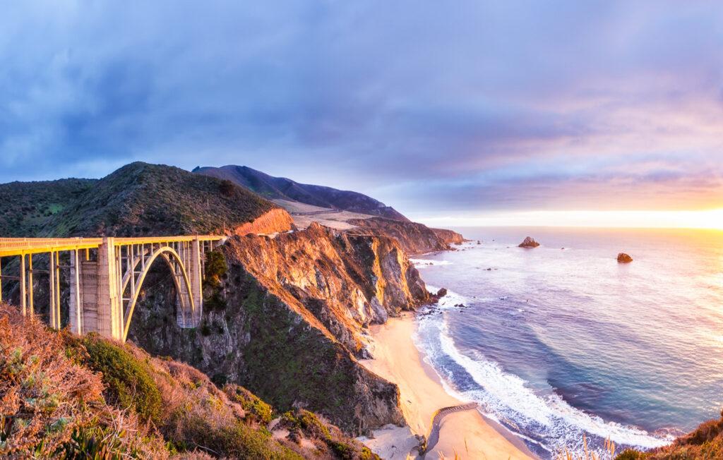 The Bixby Bridge near Big Sur, California.