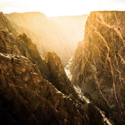 The Black Canyon in Colorado's Gunnison National Park.