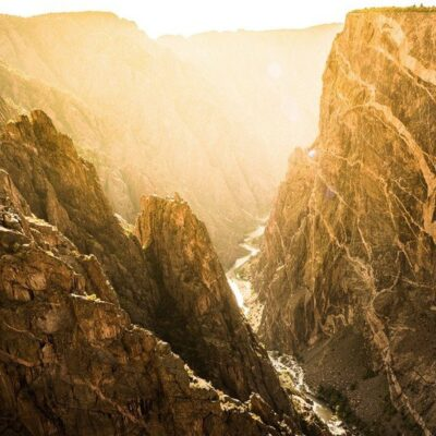 The Black Canyon in Colorado's Gunnison National Park.