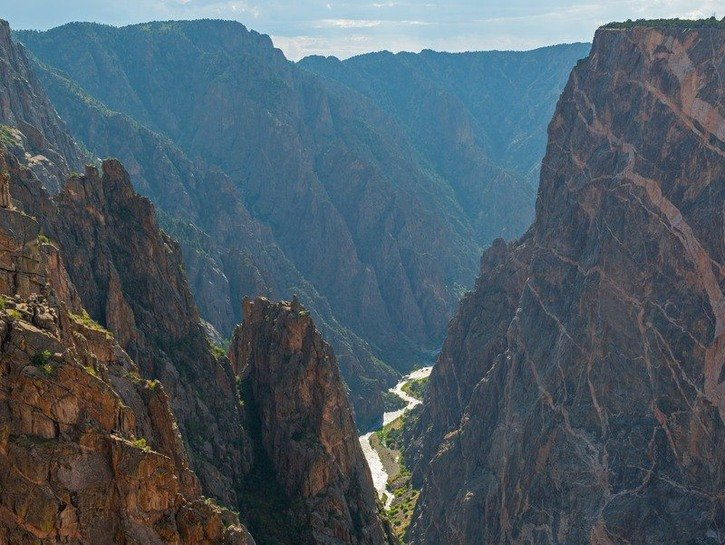 The Black Canyon in Gunnison National Park, Colorado.