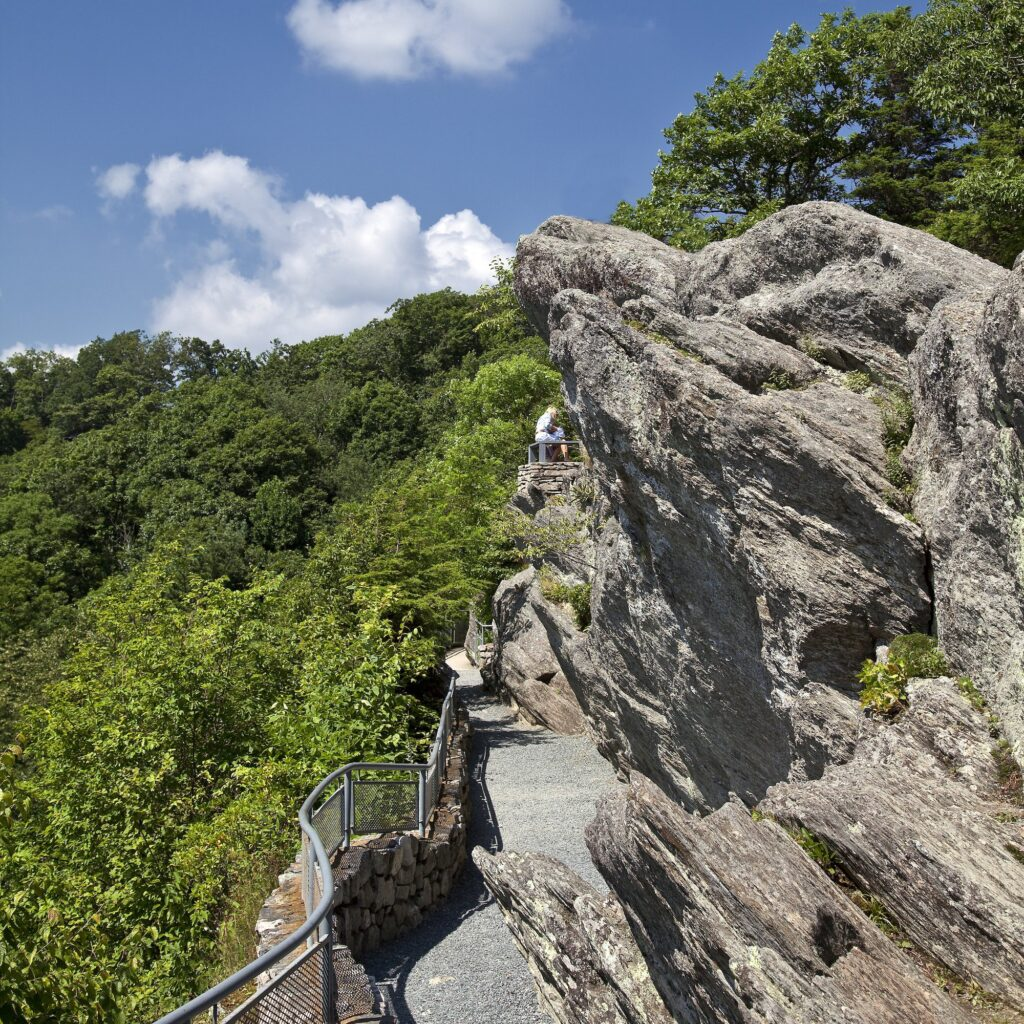 The Blowing Rock in Blowing Rock, North Carolina.