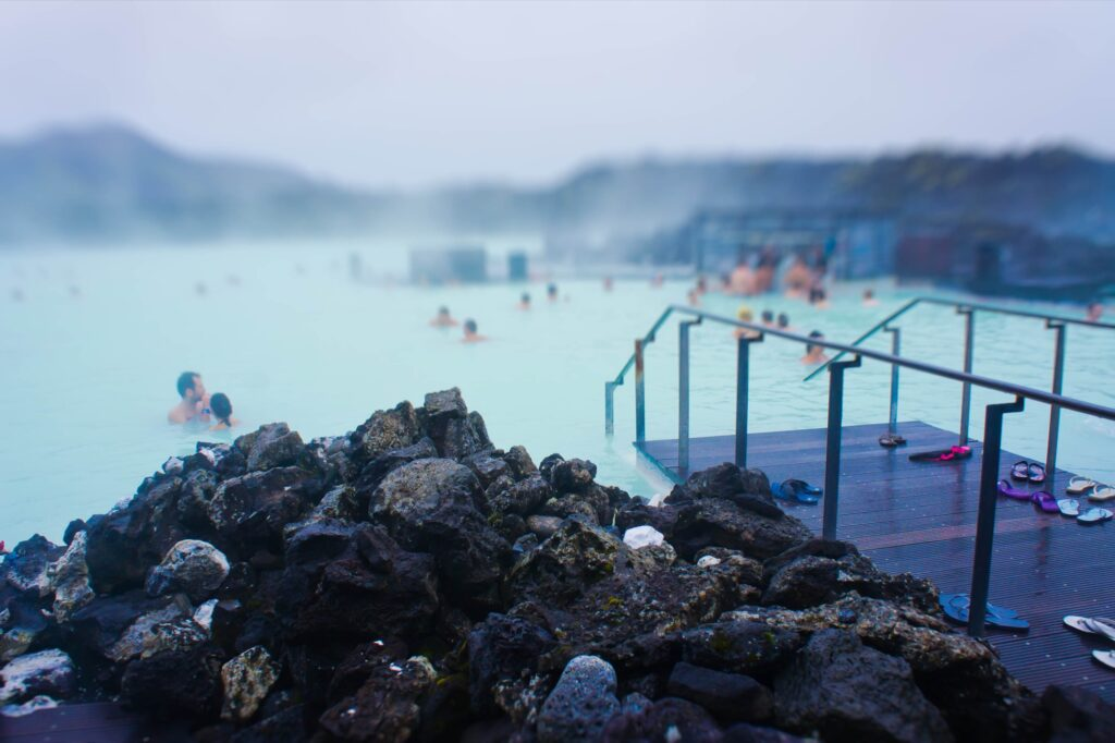 The Blue Lagoon spa in Iceland.