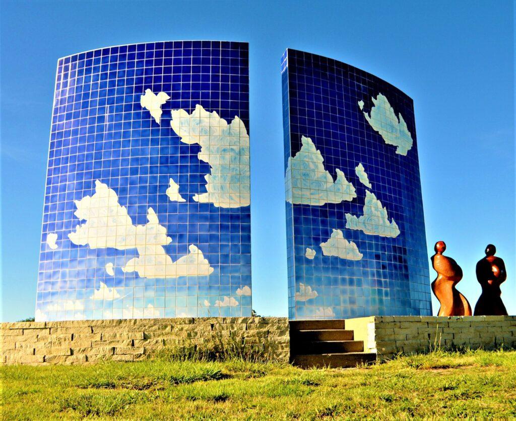 The Blue Sky Sculpture in Newton, Kansas.