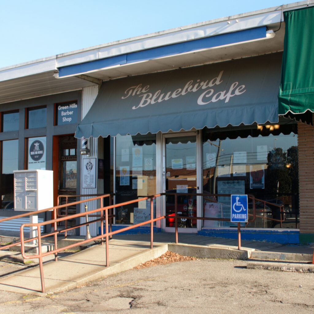 The Bluebird Cafe in Nashville, Tennessee.