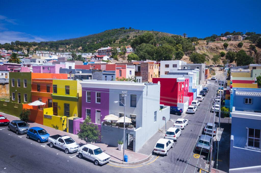 The Bo Kaap neighborhood of Cape Town.