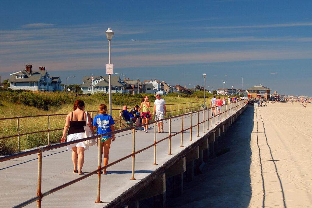 The boardwalk in Spring Lake, New Jersey.