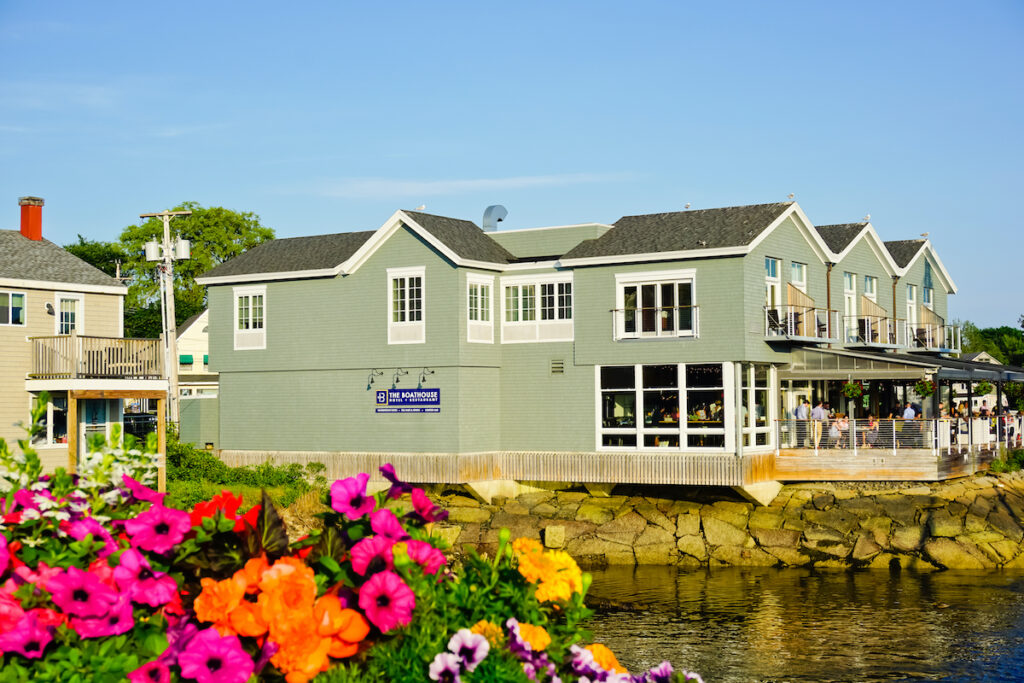 The Boathouse in Kennebunkport, Maine.