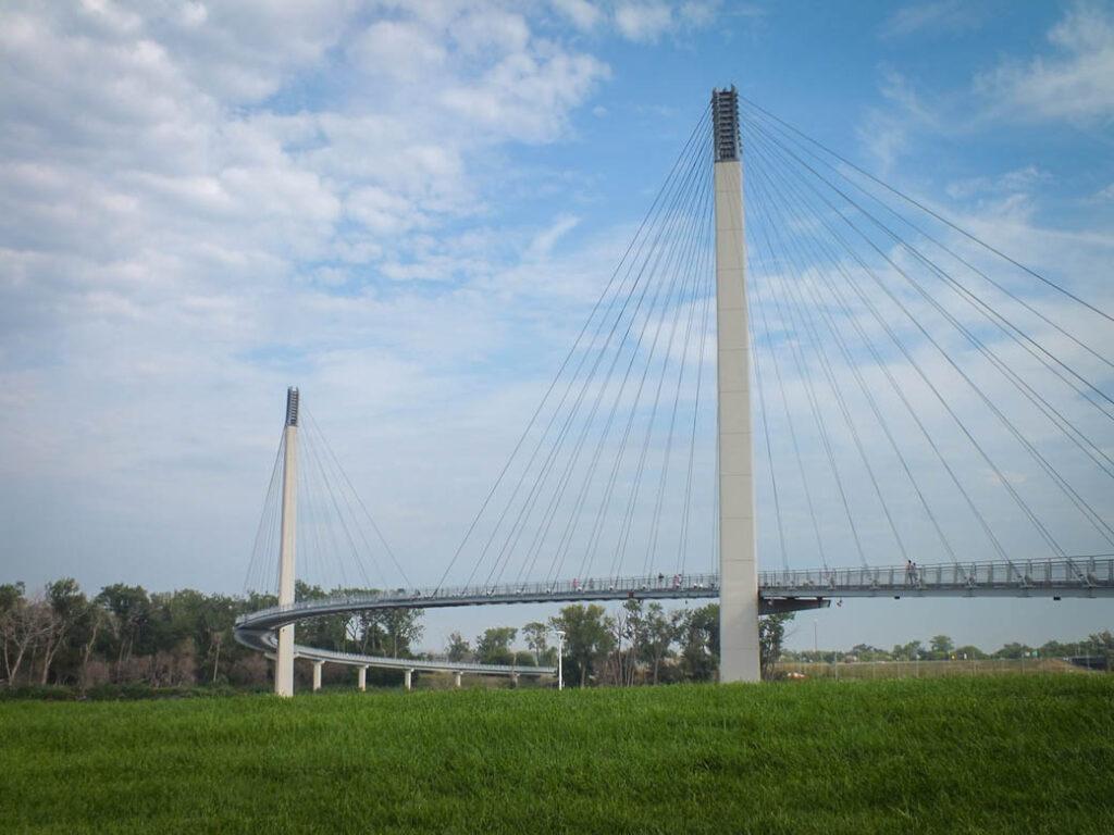 The Bob Kerrey Pedestrian Bridge.