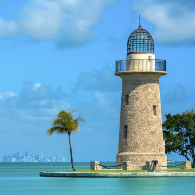 The Boca Chita Lighthouse in Florida's Biscayne National Park.