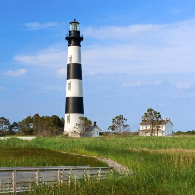 The Bodie Island Light Station in North Carolina.
