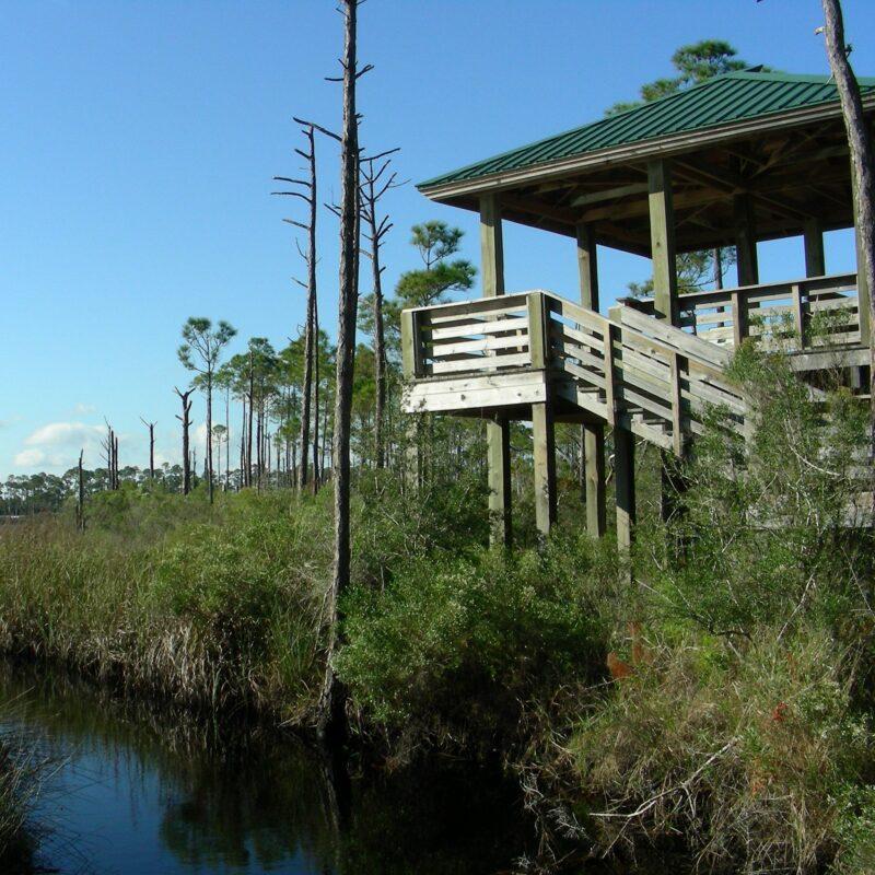 The Bon Secour National Wildlife Refuge in Alabama.