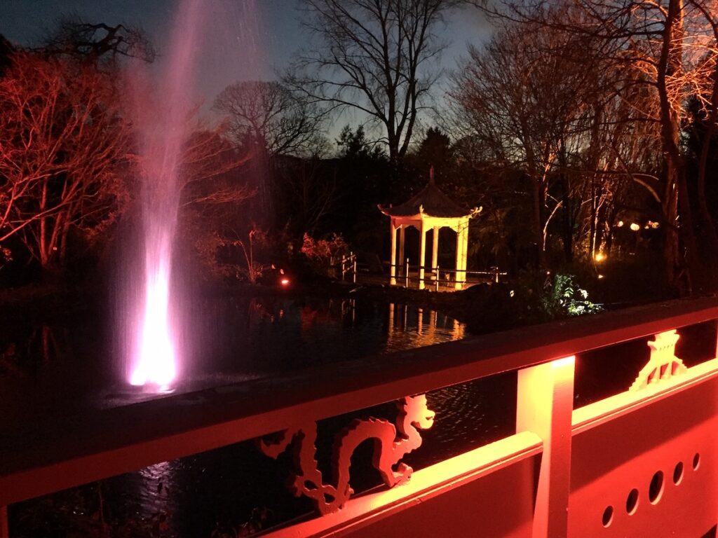 The Botanic Gardens' Light Trail in Edinburg, Scotland.