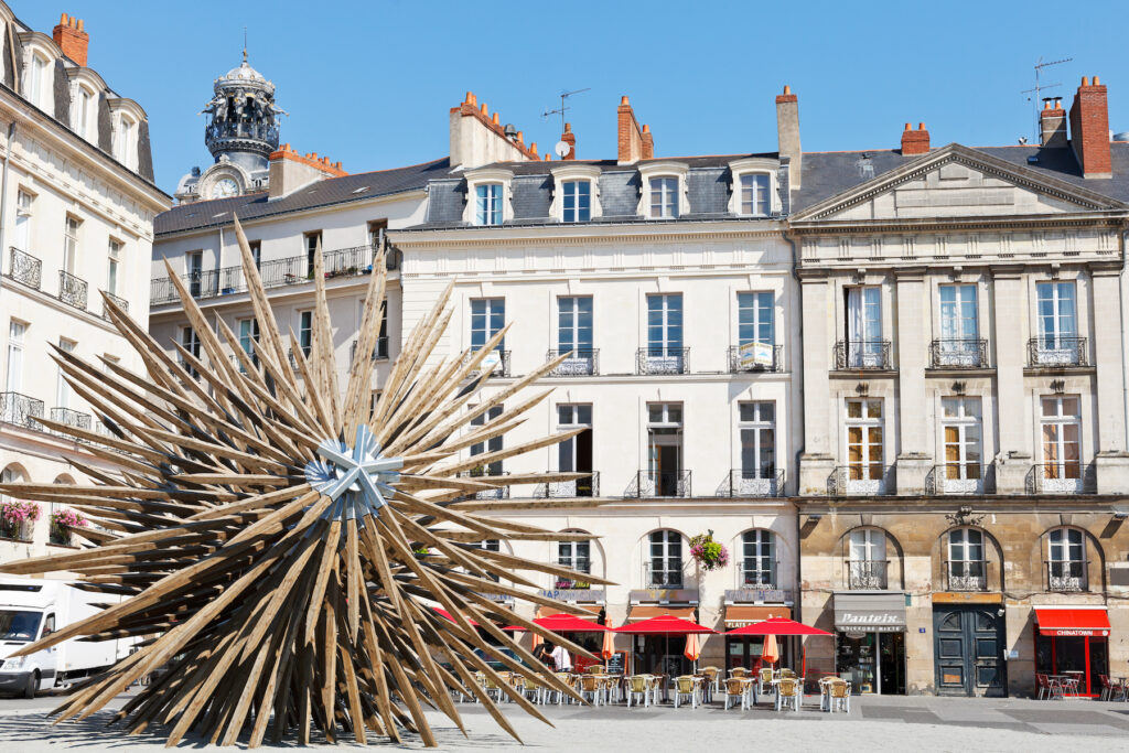 The Bouffay district in Nantes.