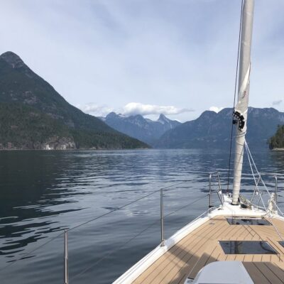 The Bow Mountains from Desolation Sound.
