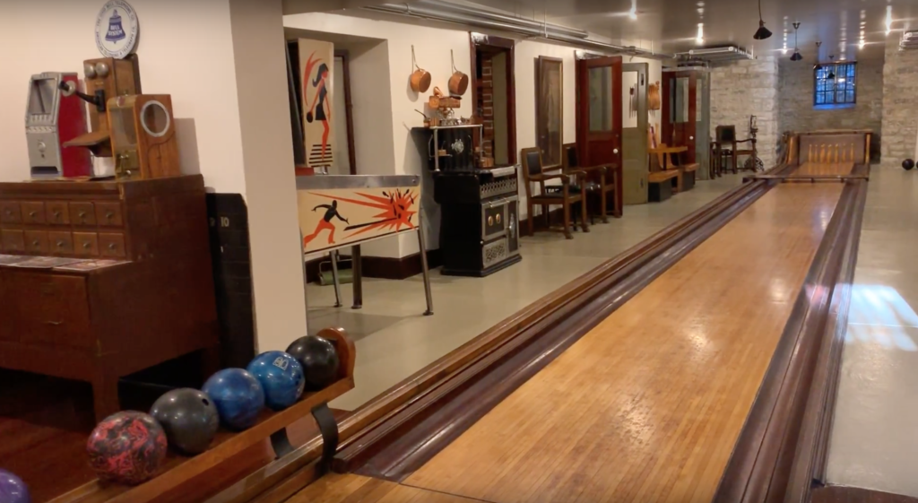 The bowling alley in the Magic Chef Mansion.