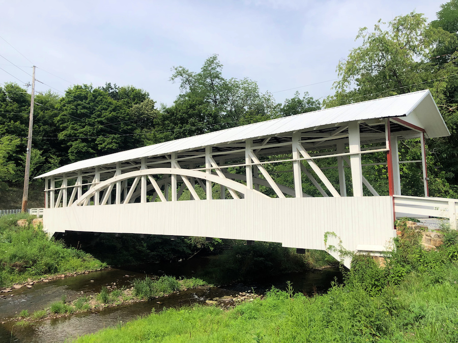 The Bowser/Osterburg Covered Bridge in Bedford County.