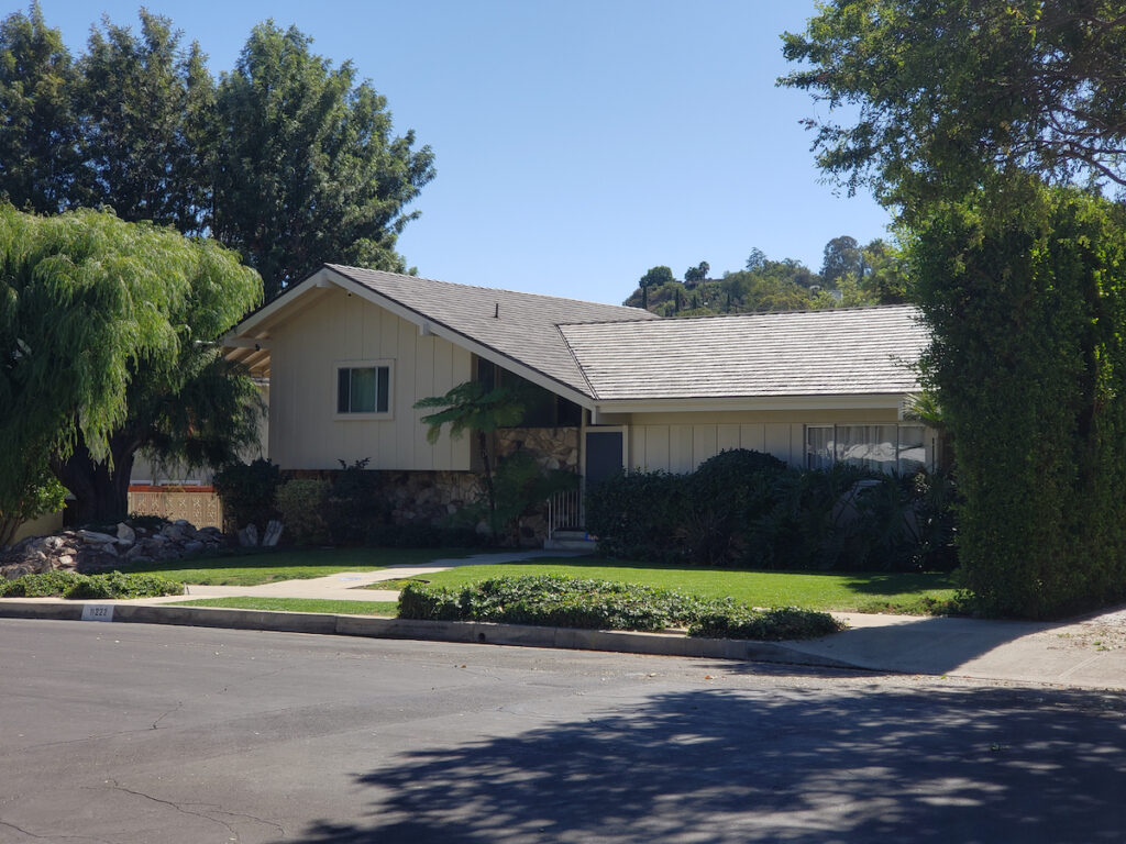 The Brady Bunch House on Dilling Street in California.