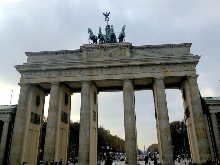 The Brandenburg Gate in Berlin, Germany.