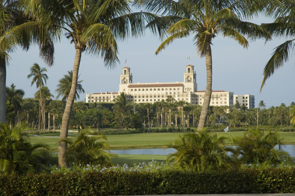 The Breakers hotel and golf course in Florida.