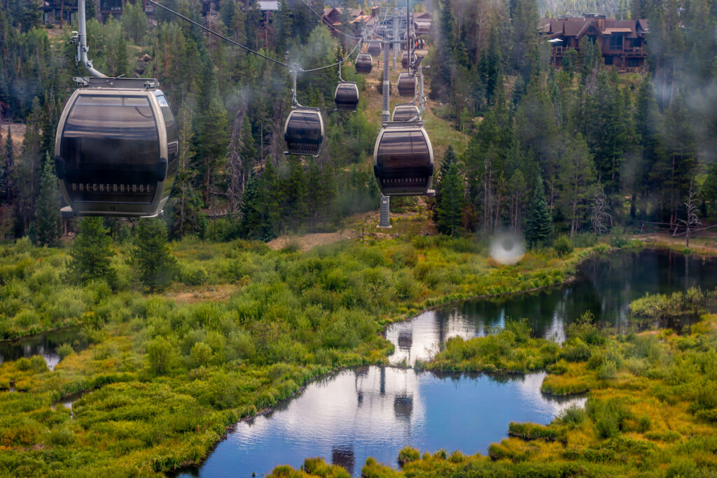 The BreckConnect Gondola in Breckenridge, Colorado.