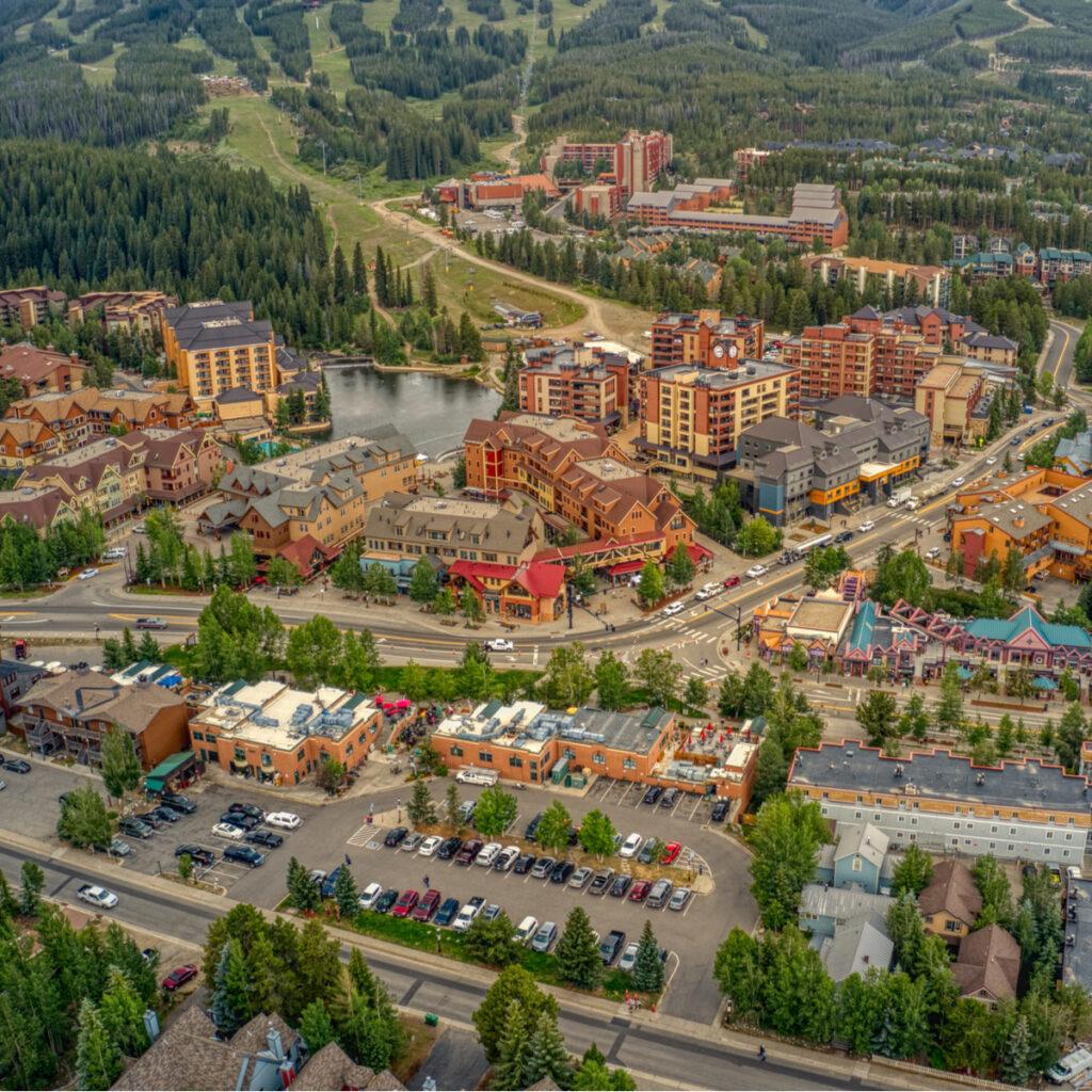 The Breckenridge Ski Resort in Colorado.