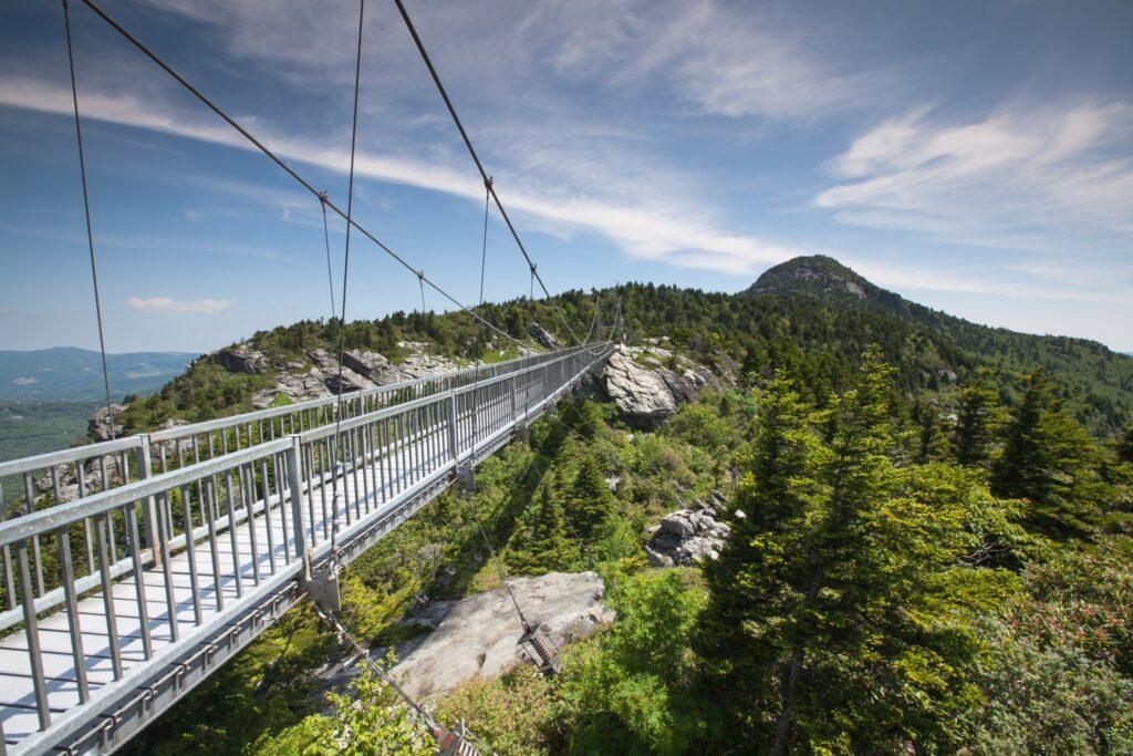 The bridge at Grandfather Mountain.
