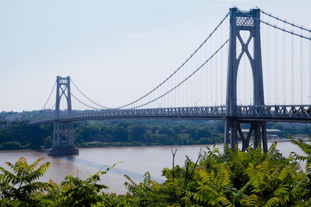 The bridge over the Hudson in Poughkeepsie.