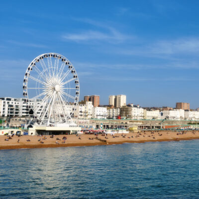 The Brighton skyline from the beach.