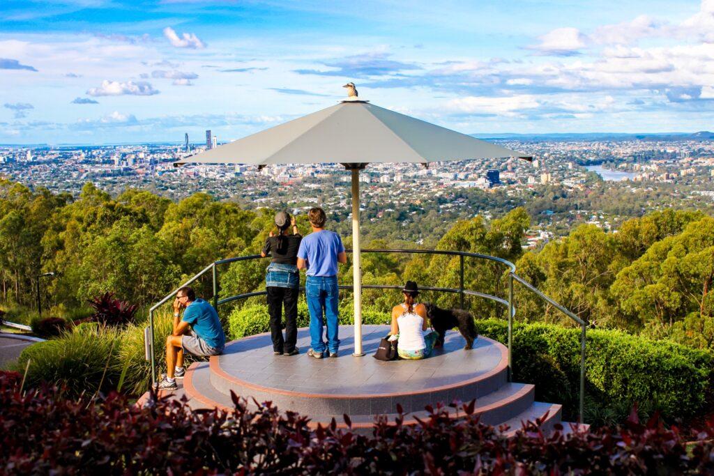 The Brisbane Lookout at Mount Coot-Tha Botanic Gardens.