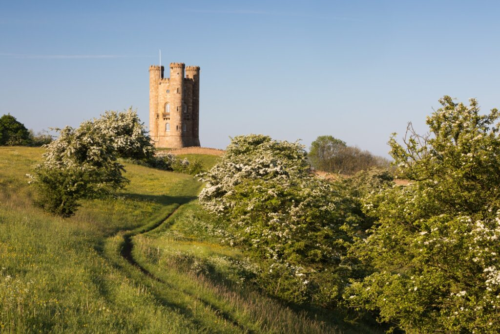 The Broadway Tower in the Cotswolds.