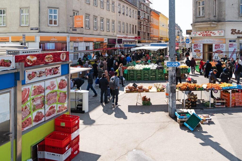 The Brunnenmarkt in Vienna.