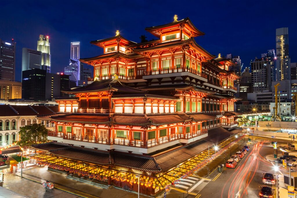 The Buddha Tooth Relic Museum in Singapore.
