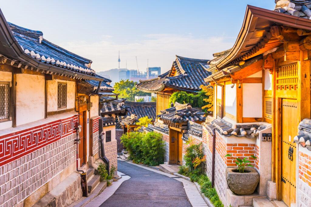 The Bukchon Hanok Village in Seoul.