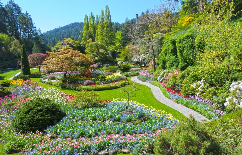 The Butchart Gardens in Victoria.