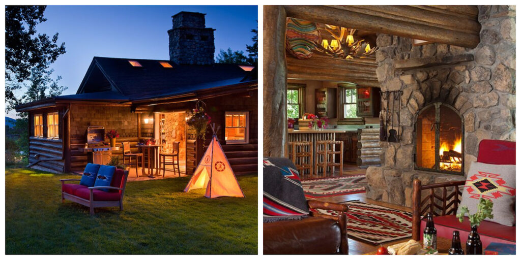 The Cabin, a rental in Jackson Hole, Wyoming.